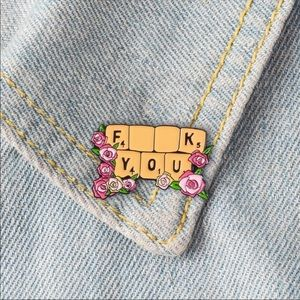 """F$&K You"" Wheel Of Fortune Humorous Lapel Pin"
